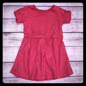 Baby gap pink sparkle tunic dress